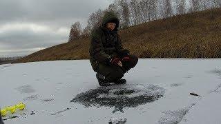 Зимняя рыбалка по первому льду на мормышку