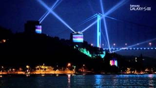 Samsung Galaxy S III 4D Projection Mapping in Rumeli Hisari Istanbul, Turkey