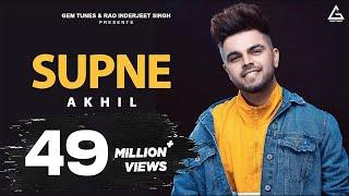 Akhil - Supne | Lyrical Video | Latest Punjabi Songs | Yellow Music