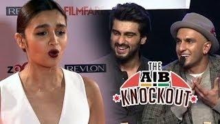 Alia Bhatt Talks About AIB Knockout With Arjun Kapoor & Ranveer Singh