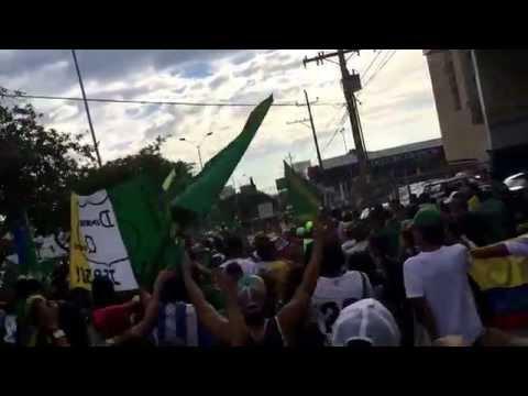 """""""Artilleria Verde Sur celebrando cumpleaños #64 del Deportes Quindio A.L.B"""" Barra: Artillería Verde Sur • Club: Deportes Quindío"""