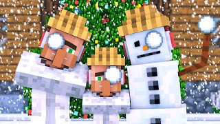 Snowman & Villager Life: FULL ANIMATION   Minecraft Animation