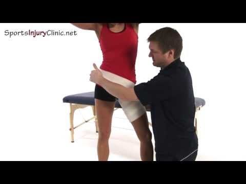 Video Groin strain strapping by Premiership Physiotherapist Neal Reynolds