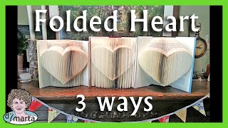 Folded Book: 1 Pattern 3 Ways