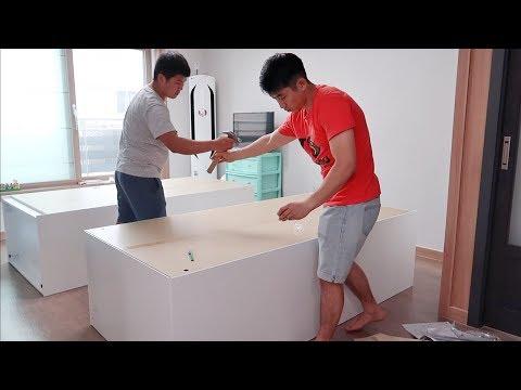 Собираем мебель для новой квартиры в Корее!