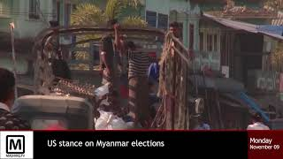 US stance on Myanmar Elections