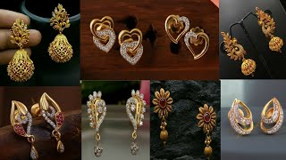 Latest Light Weight Daily Wear Earrings / Simple Daily Wear Gold Earrings Collection /Gold Earrings/