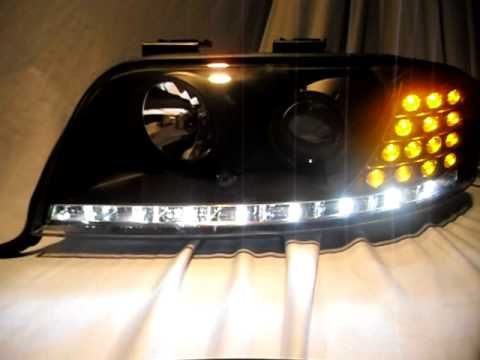 SOLD OUT Xenon/HID Scheinwerfer Audi A6 4b black mit LED Blinker SW-Tuning