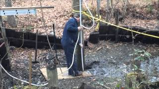 Sinking a piling (redneck style)