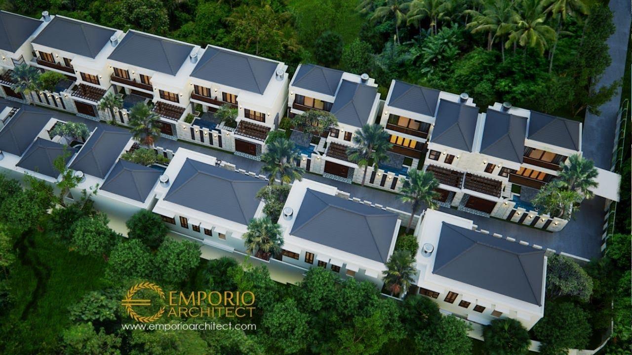 Video 3D Desain Kompleks Villa Style Villa Bali 2 Lantai Ibu Marina di Gianyar, Bali