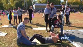 Студенты—медики приняли участие в спортивной акции