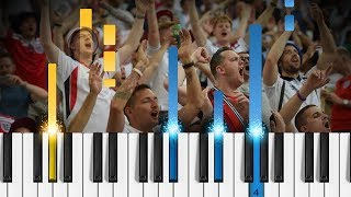 Three Lions (Football's Coming Home) - Piano Tutorial / Piano Cover