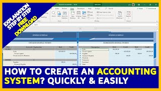 How to create an Accounting System⚡️IN EXCEL⚡️🎁FREE DOWNLOAD🎁Quickly & Easily  [PART 1/2]