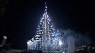 احتفالات برج خليفة بدبي بث مباشر ليلة راس السنة الجديدة ألعاب الليزر مشاهدة احتفالات دبي 2018