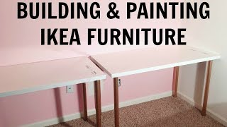 Building & Painting IKEA Furniture! ♡ Studio & Office Makeover Series ♡ EP. 4