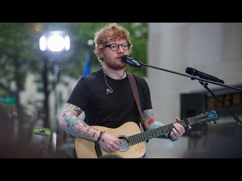 Ed Sheeran performs \