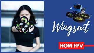 Epickie loty poniżej 250g || HOM FPV Wingsuit + Naked GoPro Hero 6