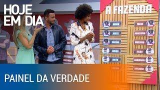 Rodrigo e Sabrina falam o que acham dos outros peões no Painel da Verdade