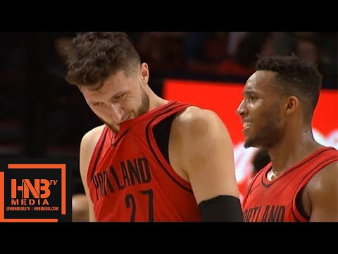 Milwaukee Bucks vs Portland Trail Blazers 1st Half Highlights / Week 7 / 2017 NBA Season