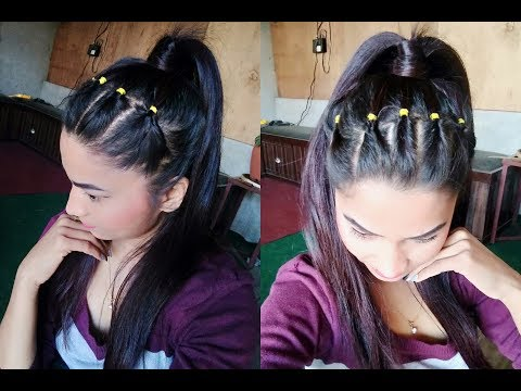 Hairstyle For Summer /High Ponytail / Hairstyle 2019