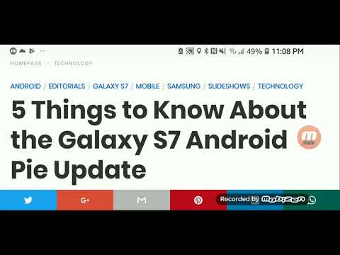 Galaxy S7 Android 9 0 PIE  Face Unlock, New Animations, Full
