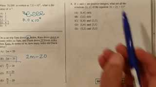 SAT Math Practice Test Section 2 #1 to 3