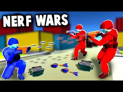 Download NERF WAR!  Epic Battles Using NERF Blaster Arsenal (Ravenfield Nerf Mod Gameplay) Mp4 HD Video and MP3