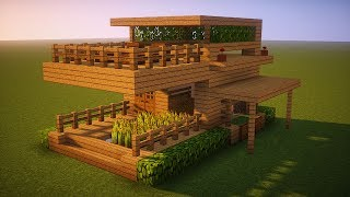 Minecraft How To Build A Small Wooden House Minecraftvideos Tv
