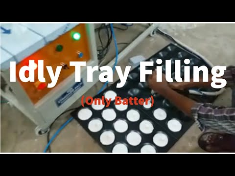 Idly Batter Tray Filling