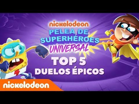 Super Brawl app | Top 5 de enfrentamientos de héroes | Nickelodeon en Español