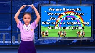 We Are The World With Actions || Graduation Song|| We Are The World For Children