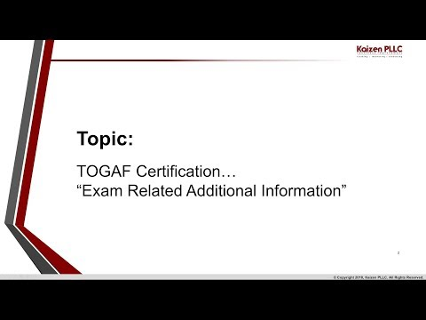 TOGAF Certification - Exam Related Additional Information - YouTube