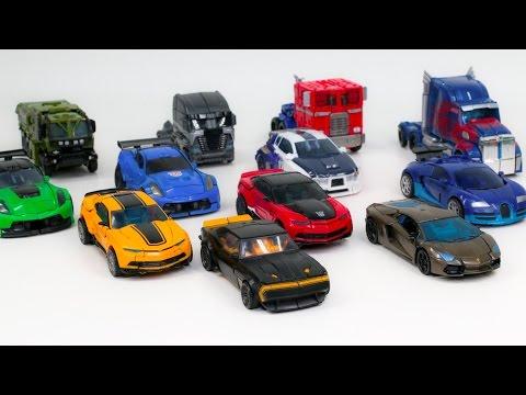 Transformers 4 AOE Autobots vs Decepticons Optimus Prime Bumblebee 12 Vehicle Robot Car Toys