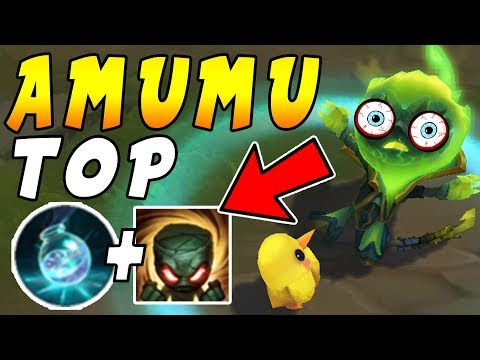 Amumu TOP | INFINITE Mana Setup = Win ALL Duels In Enemy Minion Waves (видео