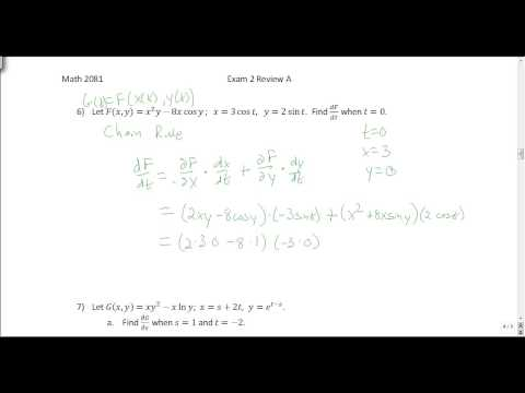 Multivariable Calculus: Exam 2 Review A Solutions - YouTube