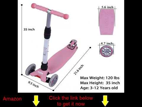 Outon Kick Scooter For Kids 3 Wheel Scooter Lean To Steer