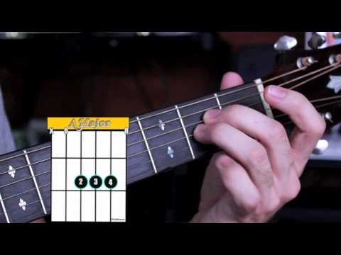 How to Play an Amajor Chord - Beginner Guitar Chords