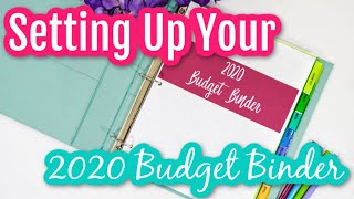SETTING UP YOUR 2020 BUDGET BINDER | Cash Envelope Budgeting | Dave Ramsey Budget Planner