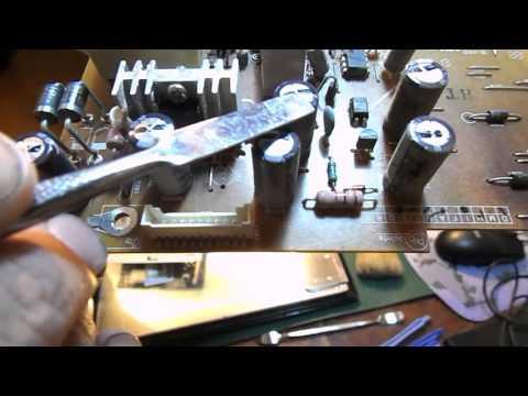 Ремонт монитора LG FLATRON W2343SV. Не включается.