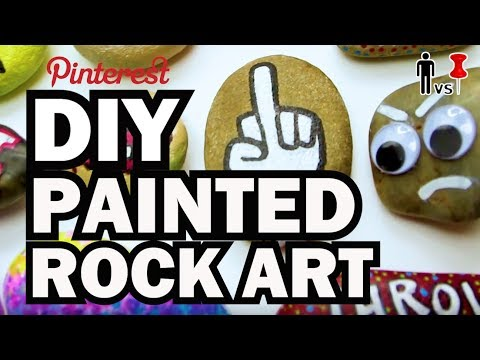 DIY Painted Rock Art – Man vs Pin