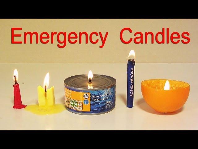 5 طرق لصنع شمعة في حالات الطوارئ