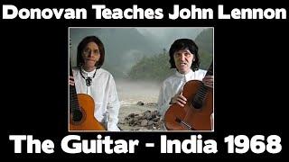 Donovan Teaches John Lennon Guitar 1968 RARE