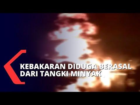 Tangki Minyak Terpercik Api, Enam Rumah Semi Permanen Ludes Terbakar!