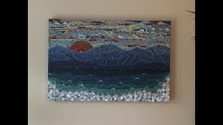 DOT ART - WOW!  landscape painting done with just dots!