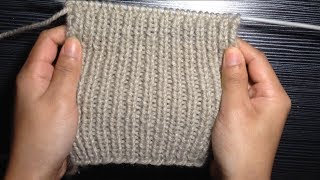 How To knit 1x1 Rib Stitch For Beginners