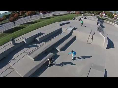 AWESOME skaters. Florence Skatepark 2014. Phantom 2 Vision Plus