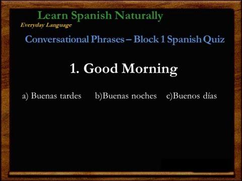 Spanish Quiz | Spanish Lessons | Review | Learn Spanish | Español | Free Spanish Classes | Repaso