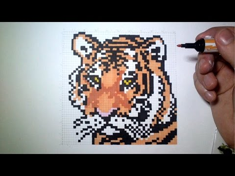 уроки живописи Epic Pixel Art The Tiger