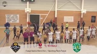 1/4 Coupe Nationale Futsal : Futsal Saône Mont D'or / Sporting Paris Futsal