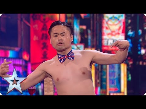 Brace yourselves - Mr Uekusa's act is about to get even more BONKERS! | Semi-Finals | BGT 2018 (видео)